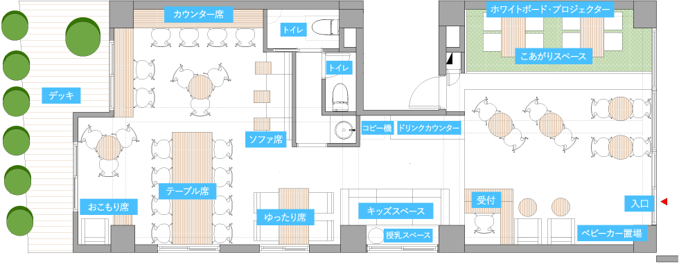 コワーキングスペースBREATH 図面