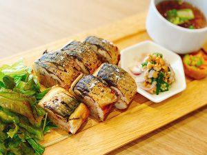 梅の利いた焼き鯖寿司